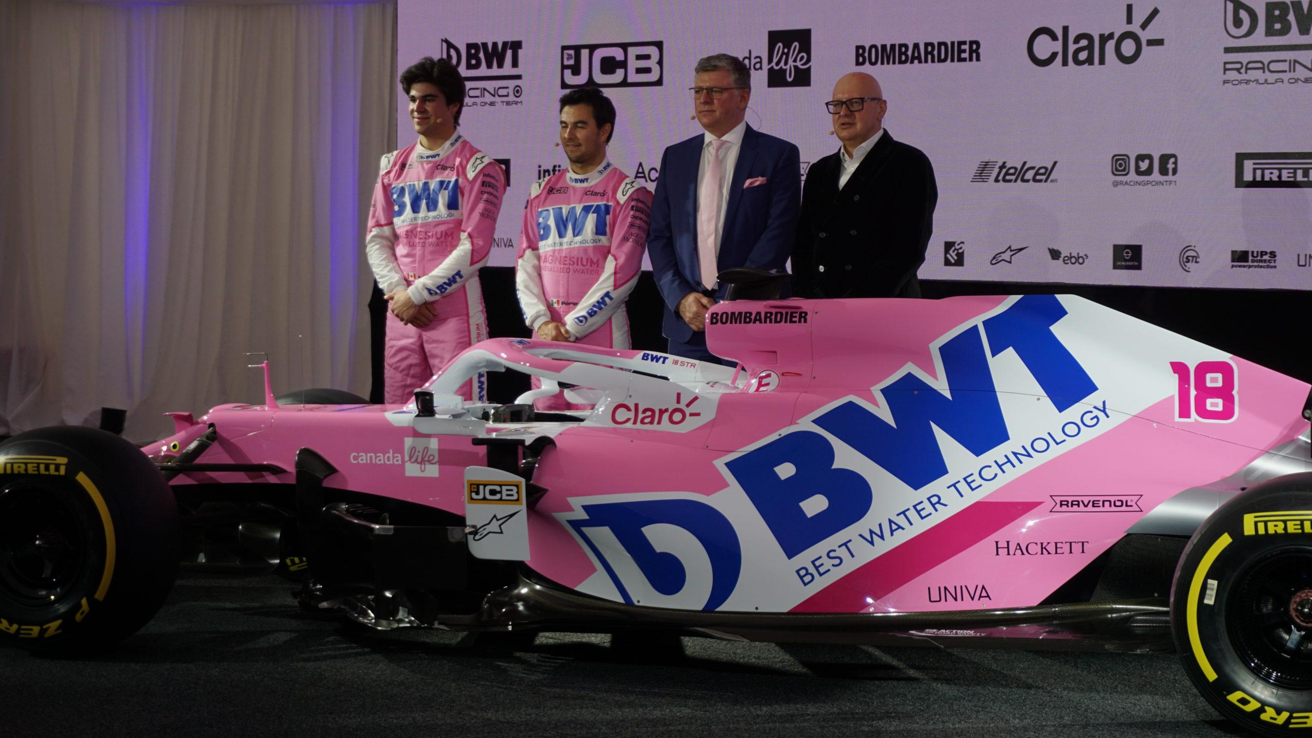 Presentazione Racing Point 2020: la nuova RP20 è ancora più rosa