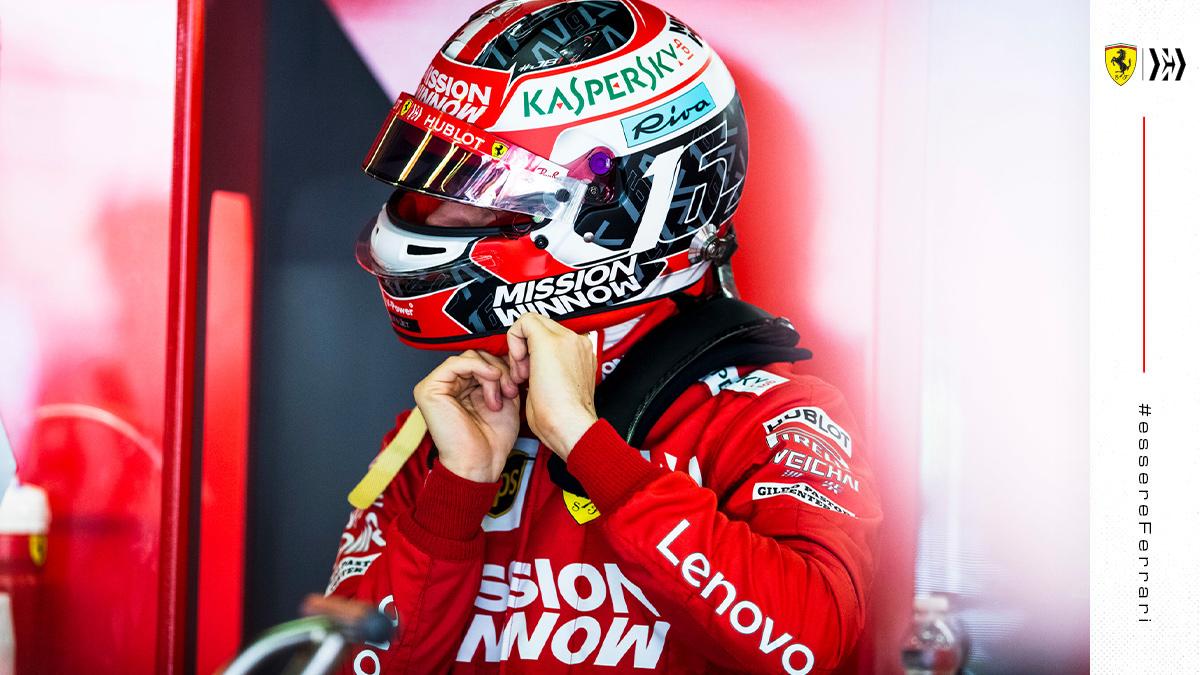 Ferrari già in pista con le gomme 2021 e... Leclerc
