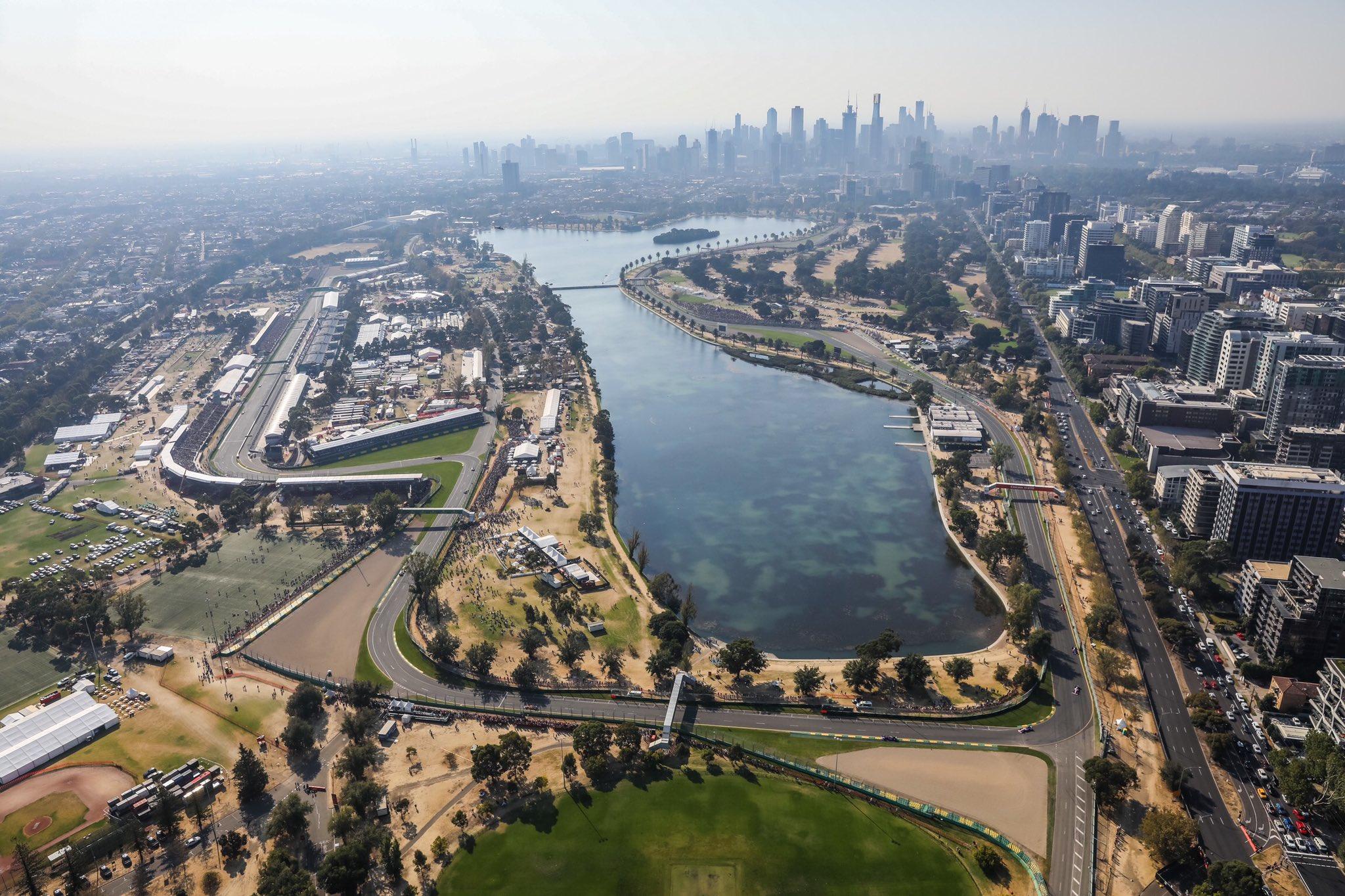 Calendario F1 2021 Panoramica dell'Albert Park, che ospiterà il primo GP del 2021