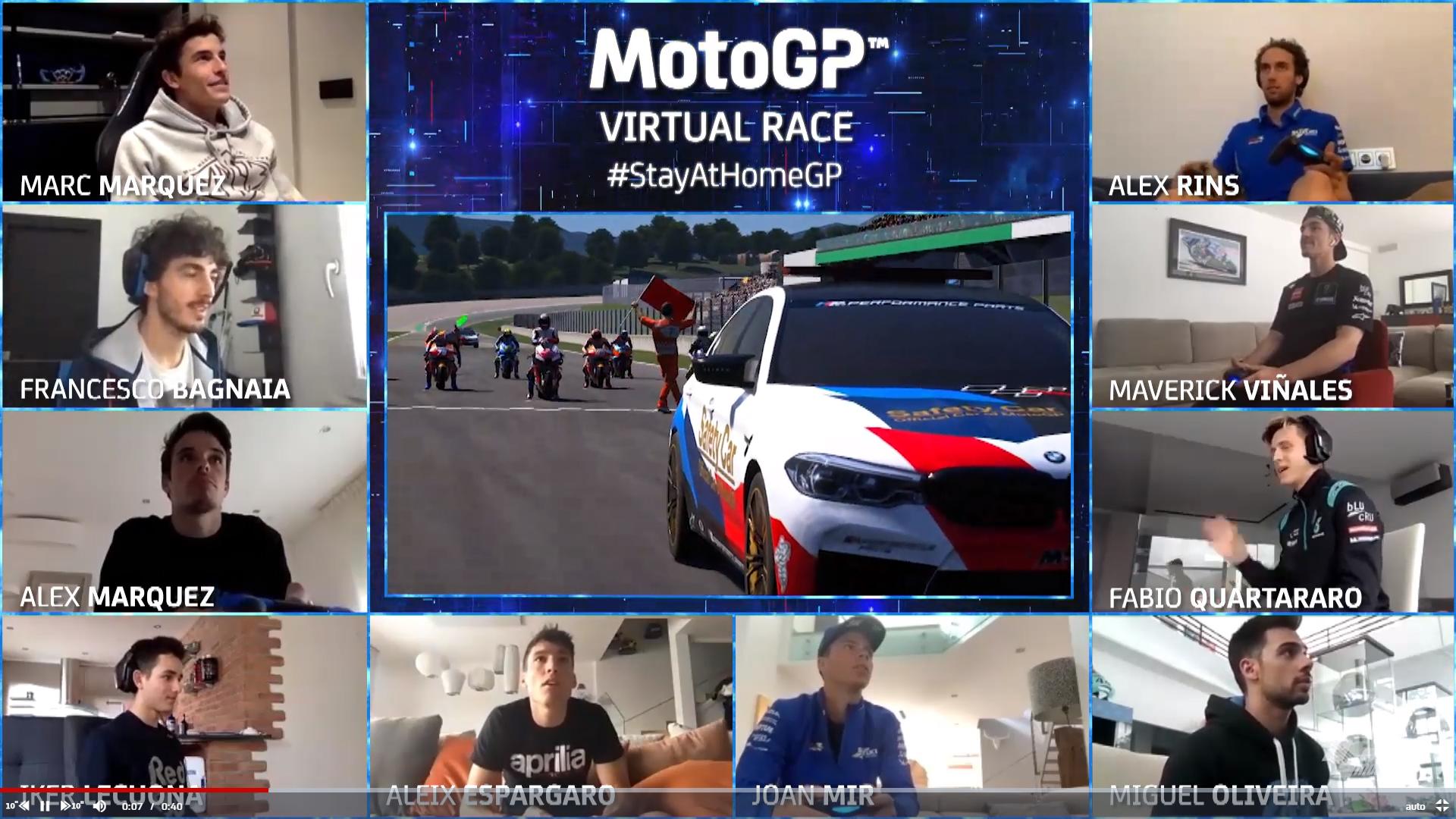 MotoGP, Rossi accetta la sfida: al via della Virtual Race di Pasqua