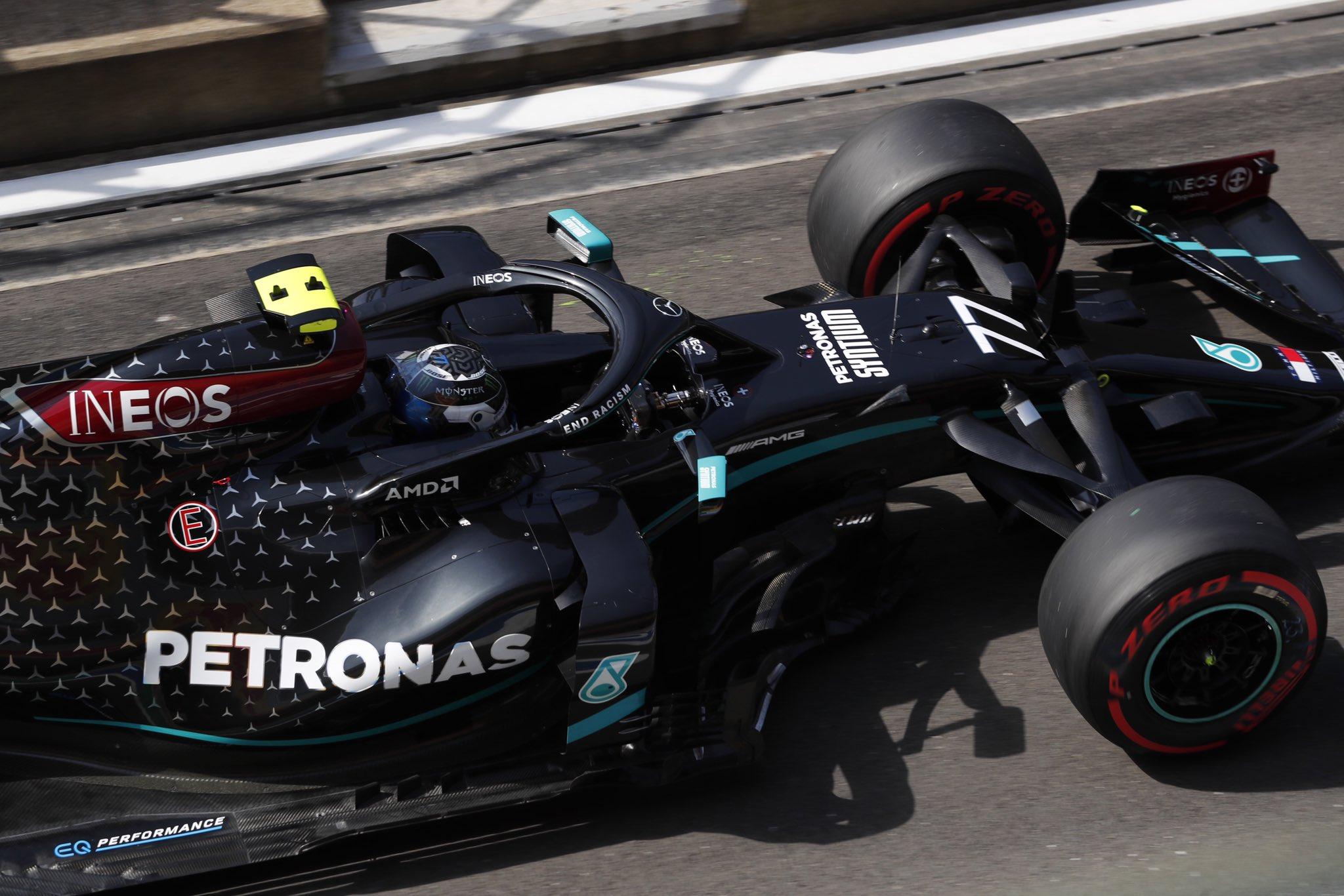 Bottas Mercedes FP3 Silverstone