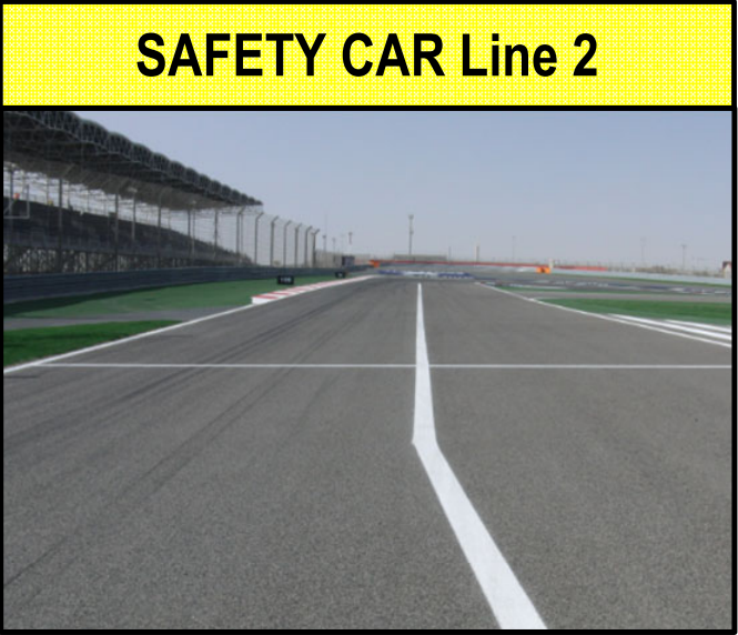 Ripartenza - Safety Car Line 2 at the Bahrain International Circuit. © Race Director's Notes, Version 3, Bahrain GP 2020.