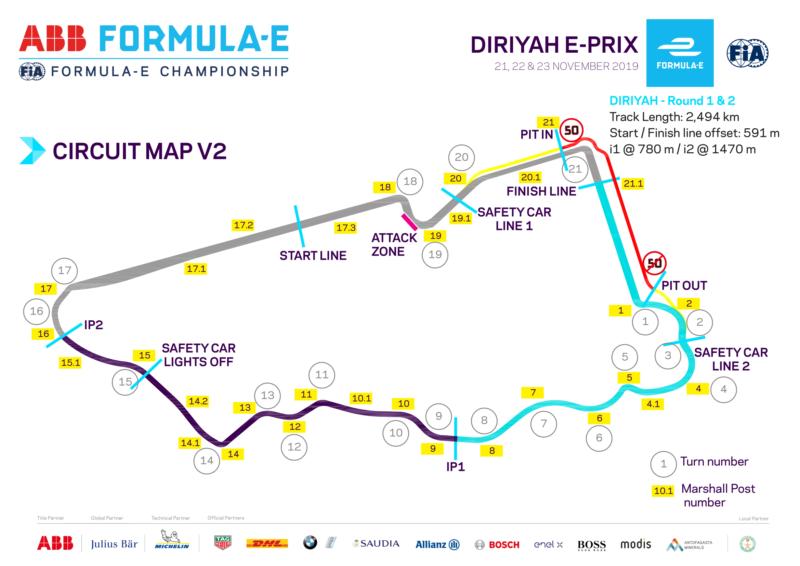 Diriyah ePrix 2021 | Riyadh Street Circuit map