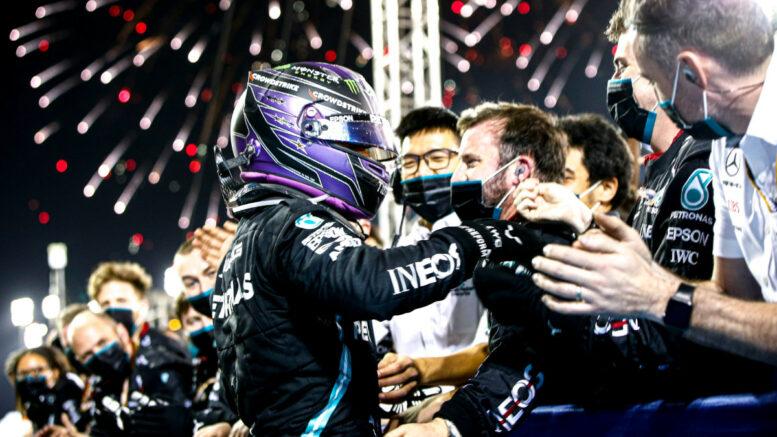 Hamilton Mercedes gara Bahrain